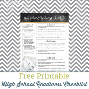 High School Readiness Checklist