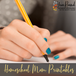 Homeschool Mom Printables