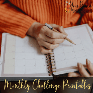 Monthly Challenge Printables