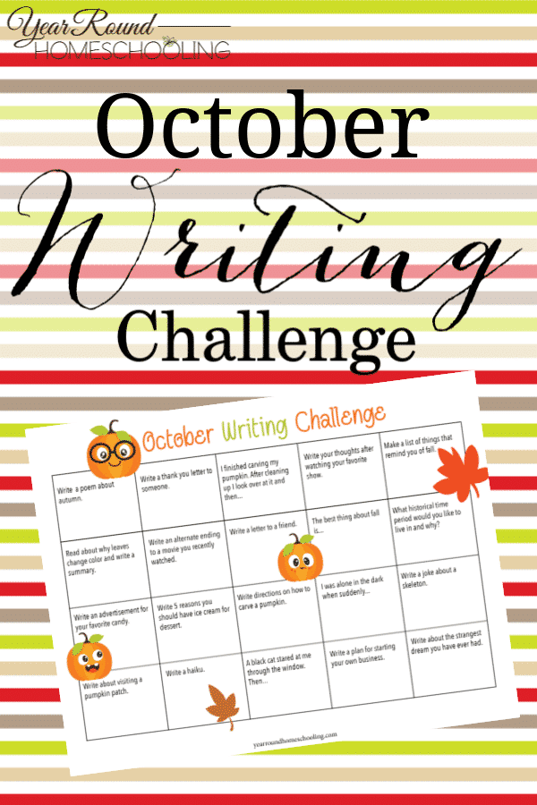october writing challenge, writing challenge, fall writing challenge, october challenge