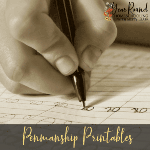 Penmanship Printables