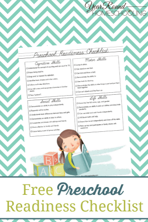 Preschool Readiness Checklist
