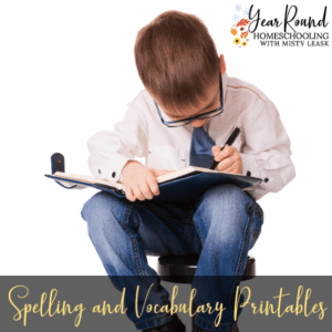 Spelling & Vocabulary Printables