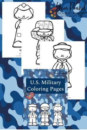 U.S. Military Coloring Pack