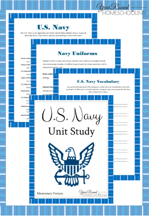U.S. Navy Printable Unit Study  (Elementary)