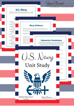 U.S. Navy Printable Unit Study (Upper)
