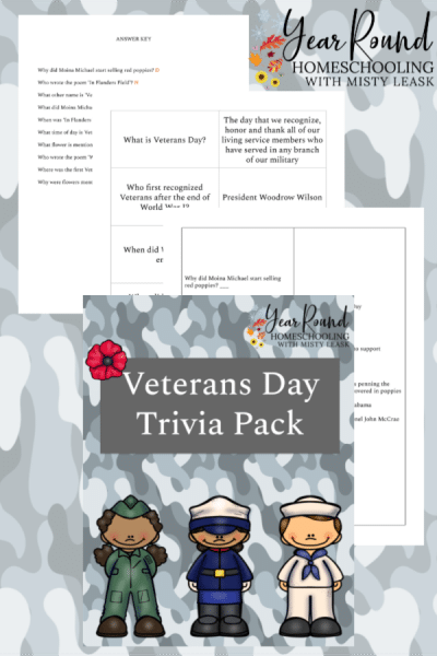 Veterans Day Trivia Pack