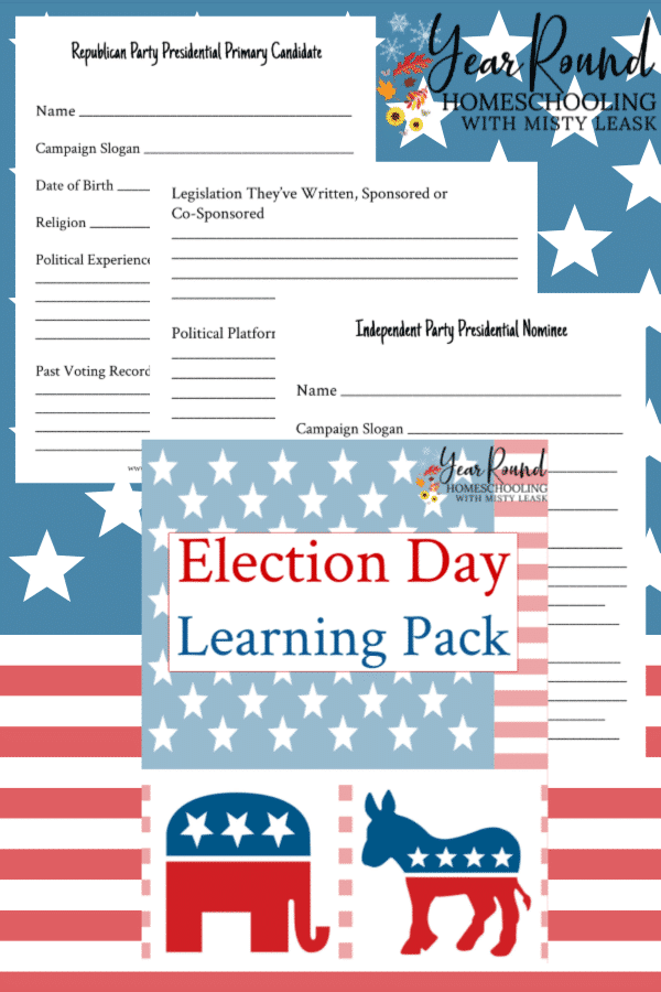 election day, election day learning, election day activity, election day activities, election day learning pack