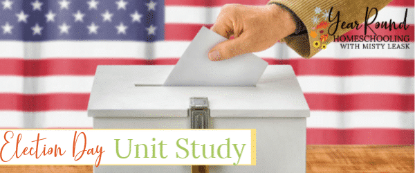 election day unit study, election day study, election day history, history of election day, election day lesson