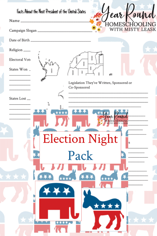 election night learning, election night activity, election night learning pack, election night lesson, election night