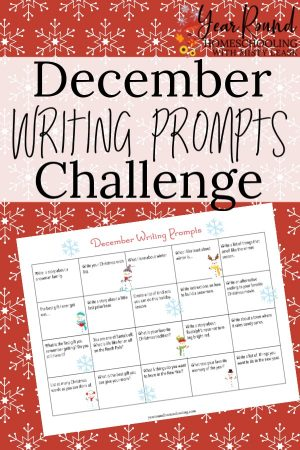 December Writing Prompts Challenge Calendar