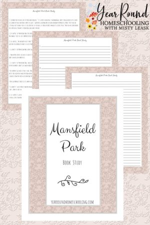 Mansfield Park Book Study Pack