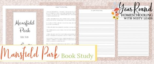 mansfield park book study, mansfield park study, mansfield park