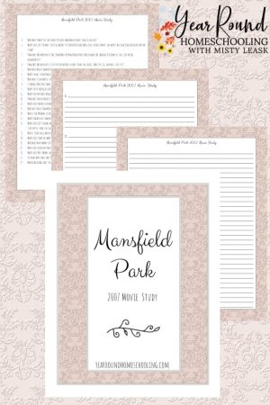 Mansfield Park Movie Study Pack