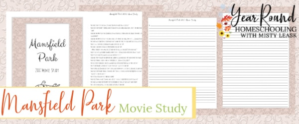 mansfield park movie study, mansfield park study