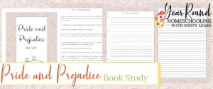 pride and prejudice book study, pride and prejudice study, jane austen book study, pride and prejudice