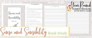 sense and sensibility book study, sense and sensibility study, jane austen book study