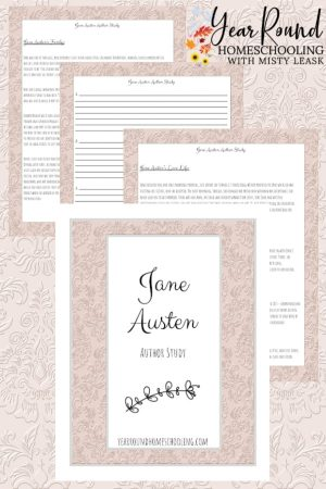 Jane Austen Author Study Pack