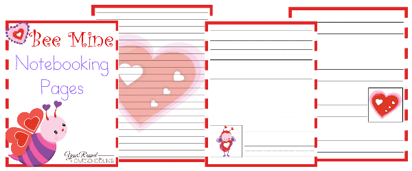 Valentine's Day Notebooking Pages, Valentine's Day Notebooking