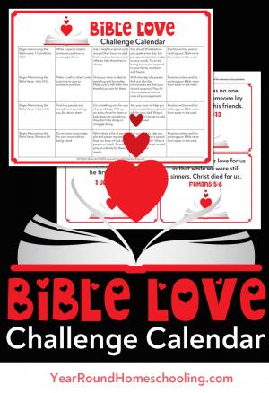 Bible Love Challenge Calendar