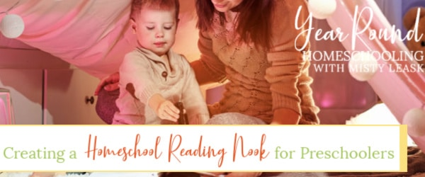 creating a homeschool reading nook for preschoolers, homeschool reading nook for preschoolers, homeschool reading nook for preschool, homeschool reading nook, homeschool preschool reading nook, preschool reading nook
