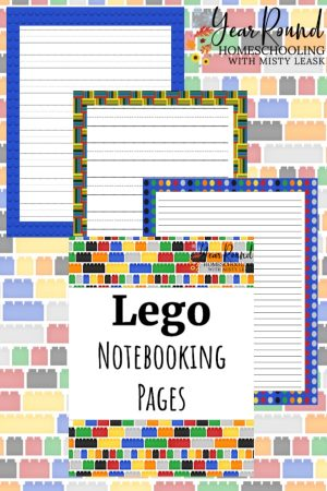 Lego Notebooking Pages Pack