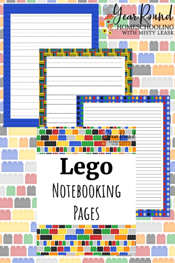 lego notebooking pages, lego notebooking, lego penmanship pages, lego penmanship