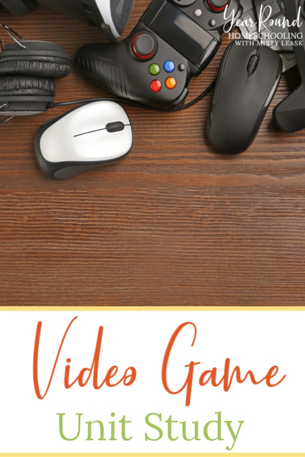 video game unit study ideas, video game unit study, video game unit