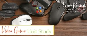 video game unit study ideas, video game unit study, video game unit