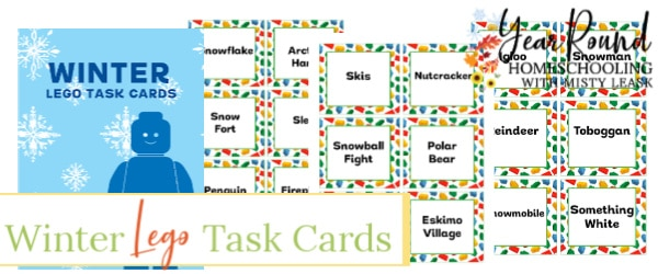 winter lego task cards, winter lego task, winter lego cards, winter lego