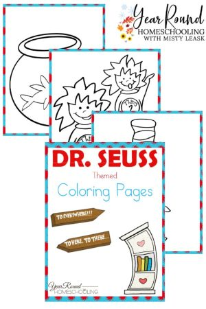 Dr. Seuss Coloring Pages Pack
