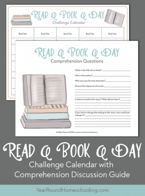 Read a Book a Day Challenge Calendar