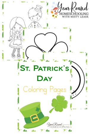St. Patrick's Day Coloring Pages Pack
