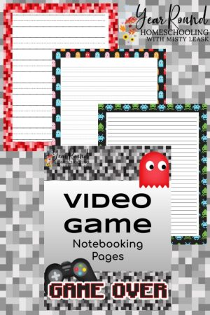 Video Game Notebooking Pages Pack