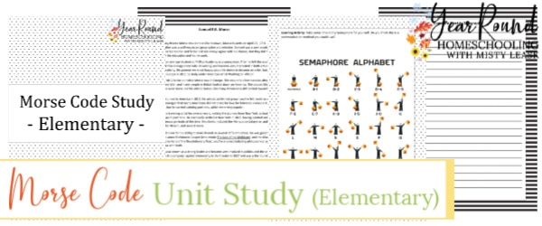 elementary morse code unit study, morse code unit study, morse code elementary unit study, morse code unit, morse code study