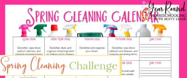 spring cleaning, spring cleaning challenge, spring cleaning challenge calendar
