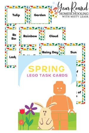 Spring Lego Task Cards Pack