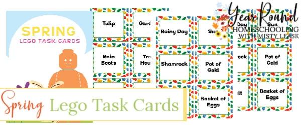 spring lego task cards, spring lego task, spring lego cards, spring lego