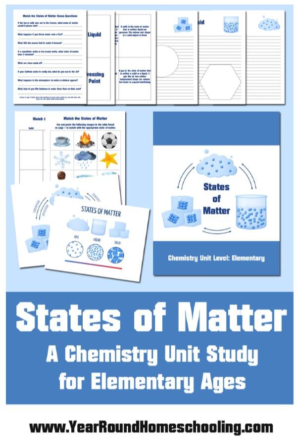 states of matter unit study, states of matter unit, states of matter study