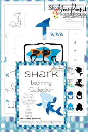 PreK-K Shark Learning Collection