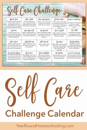 Self Care Challenge Calendar