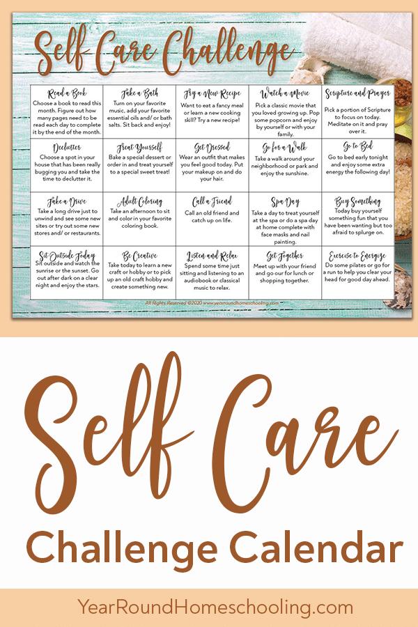 self care challenge, self care challenge calendar