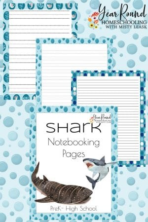 Shark Notebooking Pages Pack