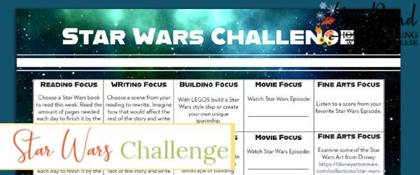star wars challenge calendar, star wars challenge, star wars monthly challenge