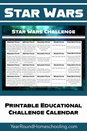 Star Wars Challenge Calendar