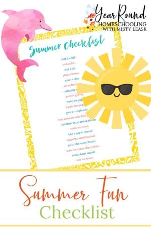 Fun Summer Checklist