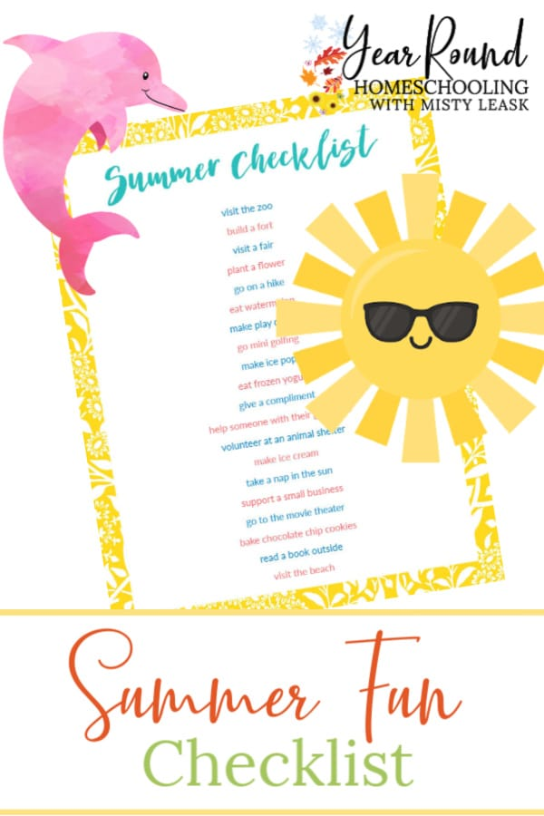 summer fun checklist, fun summer checklist