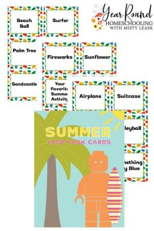 Summer Lego Task Cards Pack