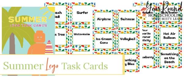 summer lego task cards, summer lego task, summer lego cards, summer lego