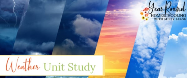 weather unit study, unit study for weather, weather study, weather unit